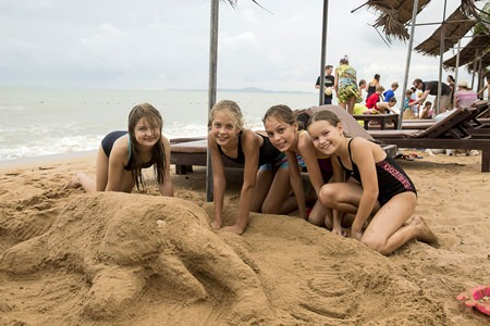 We even had a sandcastle competition on the beach.