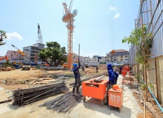 Construction work well underway on The Base Central Pattaya.