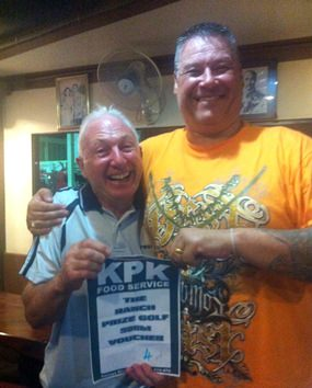 "Gerry Cooney (left) gets a winner's hug from the ""Boss""."