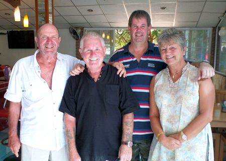 JP Maffray with Mick Thomas Kevin Wild and Mick's wife Dawn.