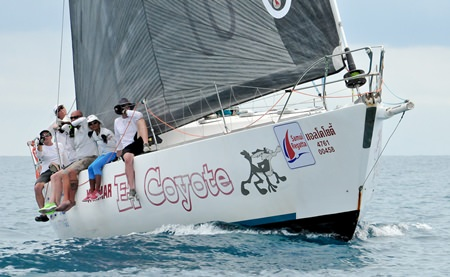 Gary Baguley and his crew on 'El Coyote' captured the IRC Two Class honours at the regatta.