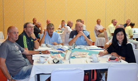 PSC members listen attentively at the club's AGM, held at the Town in Town Hotel on June 14.