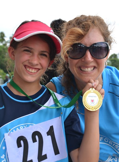 A gold medal for a happy Regent's student and her proud mum.