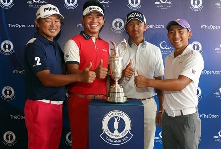 Iwata, Pan, Wu and Tsukada – Amata Spring's Open qualifiers. (Photo/theopen.com)