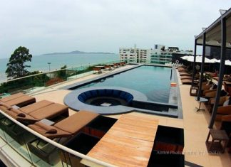 The rooftop pool at Centara Grand Phratamnak Pattaya.