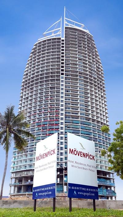 The Mövenpick White Sand Beach Pattaya development, currently under construction in Na Jomtien.