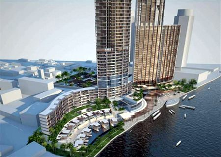 Landmark Waterfront will include two luxury hotels and a 73-storey branded residential tower.