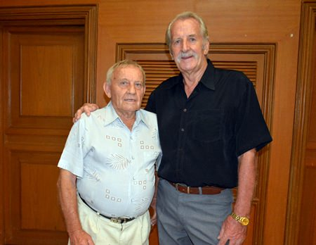 Bernie Tuppin and William Macey, two great humanitarians whose dedication for charity projects knows no bounds.
