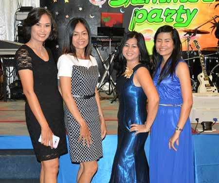 Noi Emmerson (2nd right) Public Relations Chair of PSC in a line up with her beautiful friends.