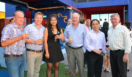 (L to R) Stuart Saunders, Ronny Heltne, Patararuthai Kittiwanitchakul, Dr. Iain Corness, Neil Maniquiz and Hans Banziger.