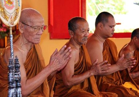 The monks will soon start the three month period of Buddhist Lent.