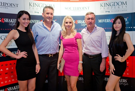 Cees Cuijpers the founder of M&S is joined by Irina BreslavtsevaVice President of Marketing and CEO Nigel Cornick from Kingdom Property the sponsors for M&S in Pattaya and Bangkok along with two lovely hostesses.