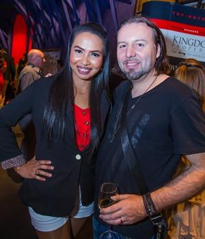 Metinee Thokaew (Nook) with  Matt Caseli world-famous deejay and Resident Deejay of PACHA .