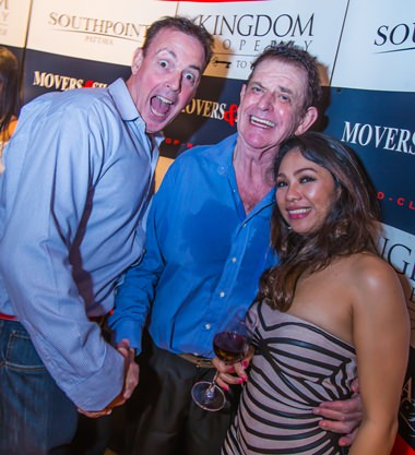 Steve Murphy from Murphys Law Pub with Dr William van Ewijk and his girlfriend.