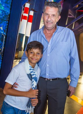 Movers & Shakers founder Cees Cuijpers with his 8 year old son Chester.