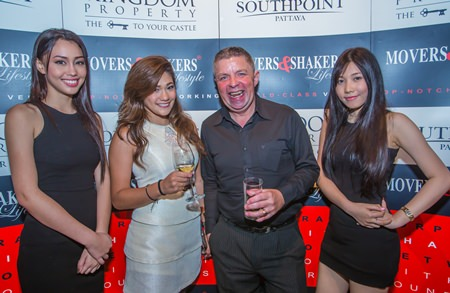 Stephanie Vallée Guest Service Manager at the Pullman Pattaya Hotel G with M&S MC Paul Strachan.