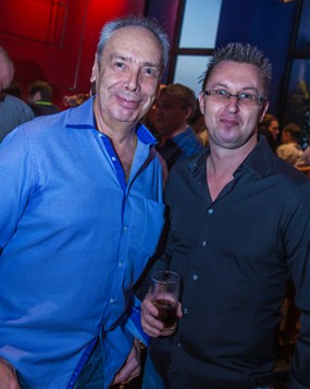 Peter Windgasse owner of the Modd Blues Café with Nigel Quennell.