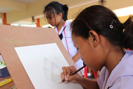 Extra concentration and a steady hand are needed to create a good drawing.