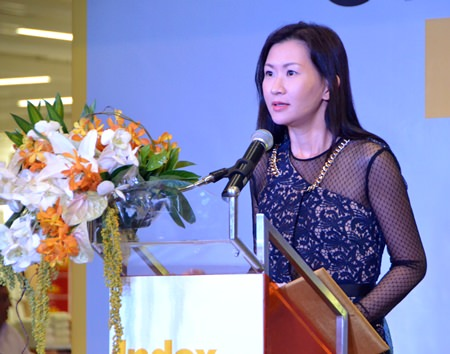 """Index Living Mall Co. Managing Director Kridchanok Patamasatayasonthi said the new branch was opened to fulfill the increasing demands of Pattaya City, where the real estate industry is growing exponentially."""""""