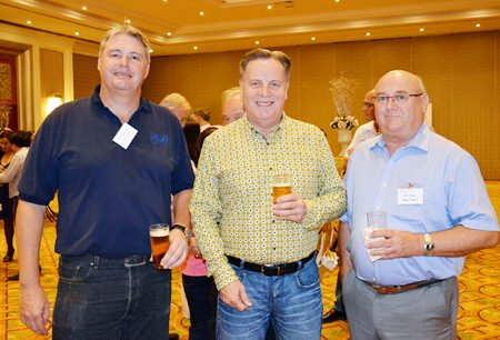 (L to R) Peter Johansson, Managing Director of the Tellus Systems Ltd.; Simon Matthews, Country Manager Thailand, Manpower Group; and Jeff Powers from Howard Global.