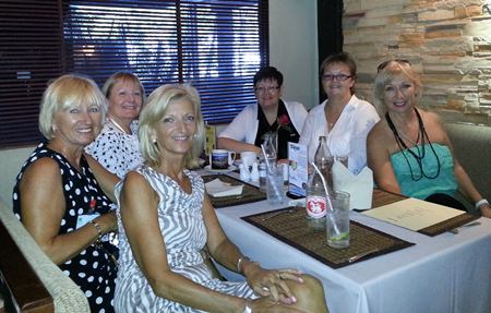 A handful of the over 40 PILC members that gathered for the club's monthly luncheon at News Steaks & Grill.