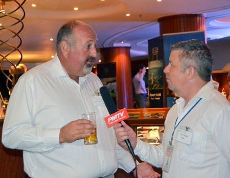 Scott Finsten, Harbour Master of Ocean Marina Yacht Club being interviewed by Paul Strachan of PMTV.
