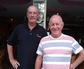 Pairs winners at Burapha - Lindsay Phillips and Rod Howett.