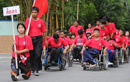 The pre-tournament parade of athletes.