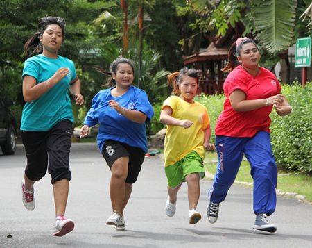 The ladies 100m dash.