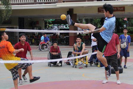 Ta-kraw, one of Thailand's most popular sports.