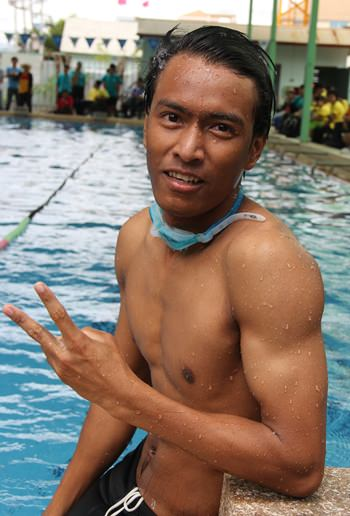 A 2-time winner in the swimming pool.
