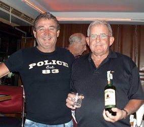 Yves Moultier and medal winner Barry Copestake.