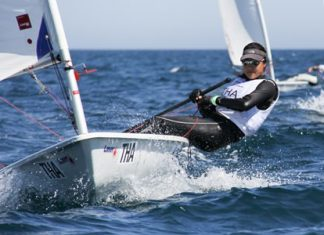 Kamolwan Chanyim was the top Asian sailor in the Laser Radial at the ISAF Youth Worlds. (Photo/Luis Fráguas ISAF Youth Worlds)