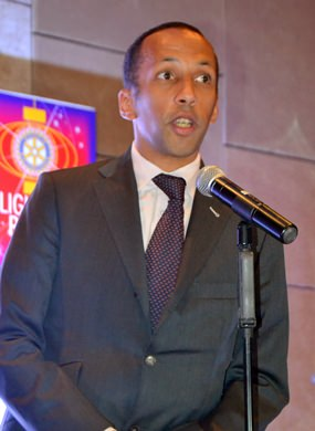 Rodolphe Sambou, First Secretary of the French Embassy pledged their support for Rotary's humanitarian work.
