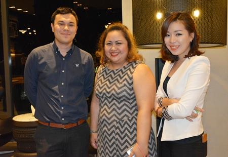 (L to R) Thanagon Poungbubchart, PR & Mar Com Manager of the Holiday Inn Pattaya, Pichaya Nitikarn, PR Manager of the Amari Orchid Pattaya and Madtiga Sutamchaem, Sales Executive - Catering of the Holiday Inn Pattaya.