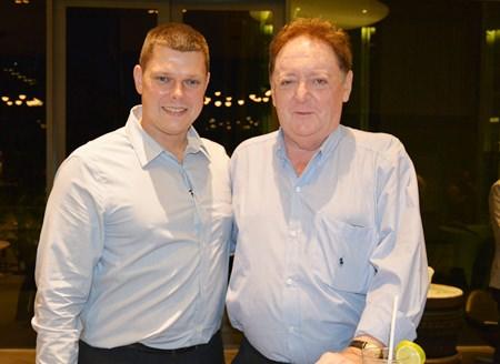 Carl Duggan, Executive Assistant Manager, F&B of the Centara Grand Pratamnak Resort Pattaya chats with Allan Riddell, Director of the SATCC.