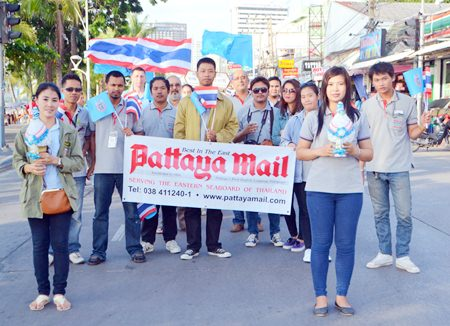 Pattaya Mail Media Group once again participates in the annual parade and pays homage to HM the Queen on her birthday.