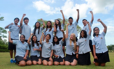 Year 9 all passed their first ever IGCSE, including Shilpi (right) the youngest GIS student to ever be awarded an IGCSE.
