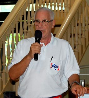 PCEC Master of Ceremonies Richard Silverberg brings everyone up to date on club activities and upcoming events.