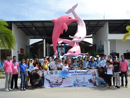 Sophon Cable TV thanked its customers by treating them to a dolphin show in Pattaya.