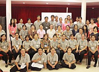 Margie and Jiap from the Hand to Hand Foundation provided training in child protection at the Regent's International School Pattaya for their Thai staff members.
