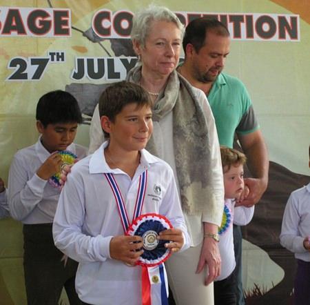 Sergey won the short lead rope test.