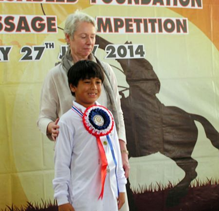 Kobe Dhanji earned best marks for off the lead rope independent.