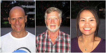 Tom Novak, Ted Lodge and Miss Nut.