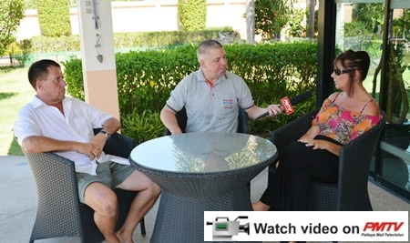 Paul Strachan interviews Dave (left) and Lesley Goodchild (right) for PMTV.