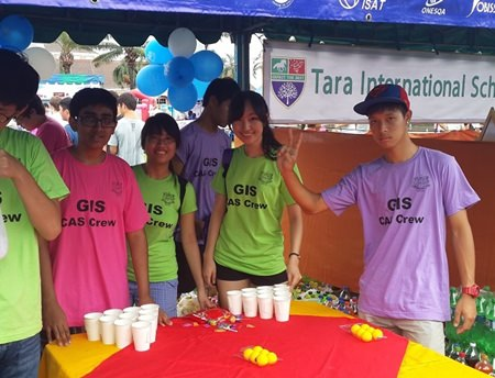 IB students from Garden International School ran their own stall at Jesters.