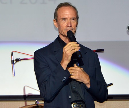 """Jesters Care for Kids Charity Chairman Lewis """"Woody"""" Underwood welcomes everyone with a heart felt speech where he acknowledged the numerous generous sponsors."""
