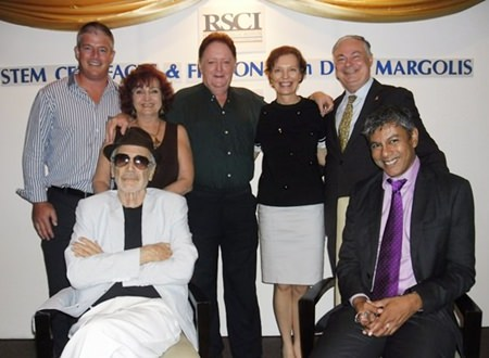Group photo (front seated from left) guest speaker Don Margolis and Ragil Ratnam of Pure Growth Asia. (Standing from left) Antony Brown, Chartering Executive of Light House navigation, Elfi Seitz, executive editor of Pattaya Blatt, Allan Riddel, Linda Reay Amazon Colours and General Manager Eric Hallin.