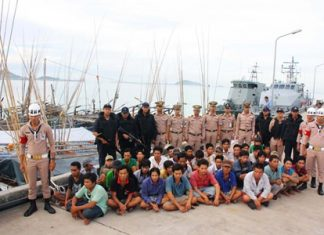 Naval officers have arrested 37 Vietnamese fisherman for illegally fishing in Thai waters.