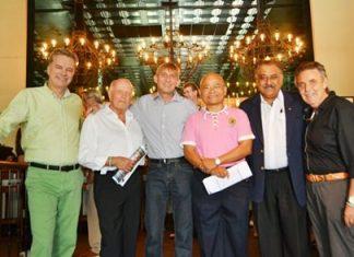 (From Left) Ingo Räuber, Jürgen Schlag, Heiko Klimanschewsky, Nigon Chumnankul, Peter Malhotra and Axel Brauer.